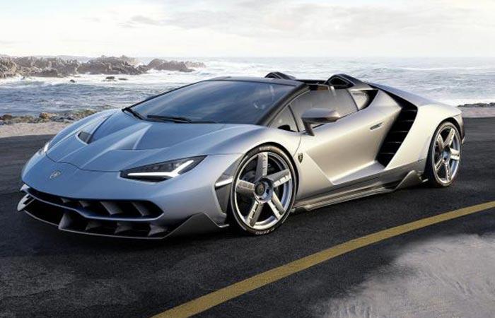 Lamborghini Centenario Roadster on a road