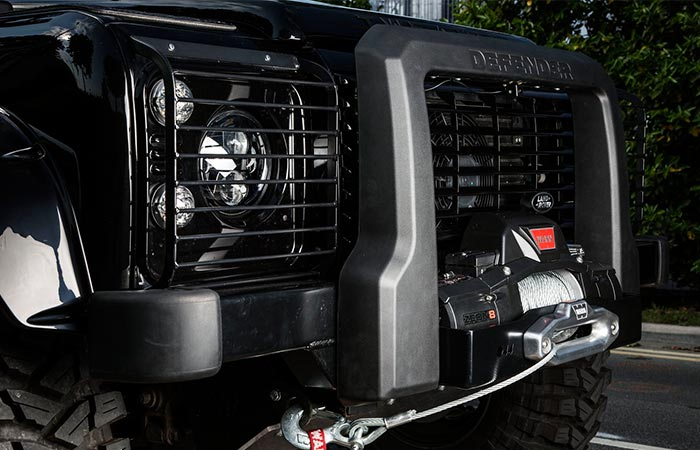 Land Rover Defender 90 Spectre Edition winch view