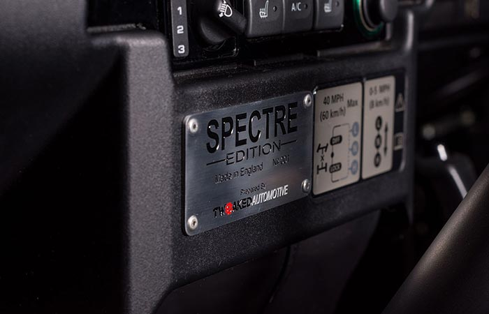 Land Rover Defender 90 Spectre Edition name plate
