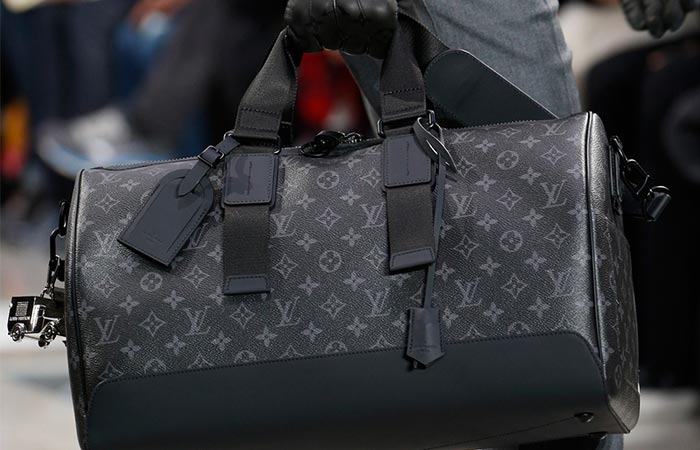 5eca25e65 Black Louis Vuitton Keepall Voyager Bag