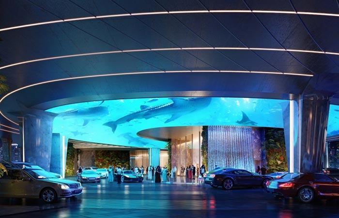 Rosemont Hotel & Residences Aquarium Entrance