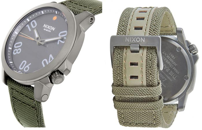 Side and back view of the Nixon Ranger 45 Nylon Watch