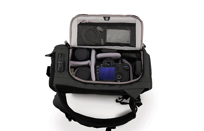 Black Pacsafe Camsafe Z25 Anti-Theft Camera And Laptop Backpack