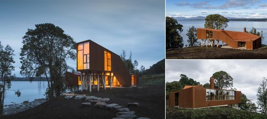 Stunning Apus Kankay House On The Eastern Bank Of A Patagonian Lake