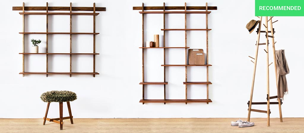 Sticotti Bookshelf and Coat Rack