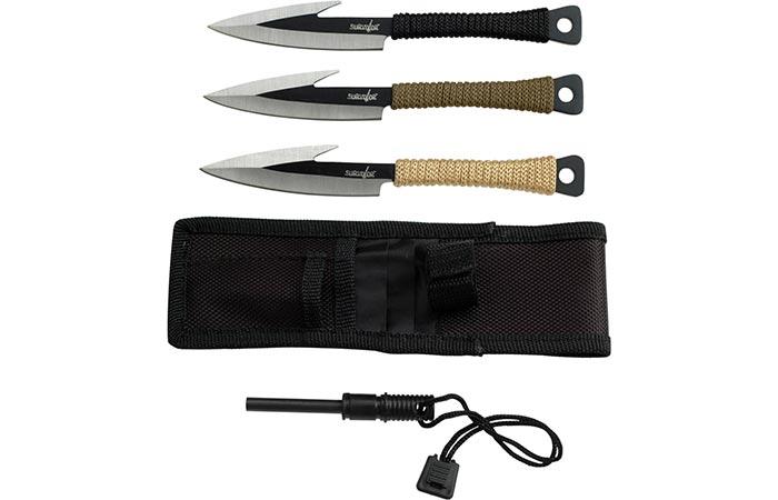 Survivor HK-753 Knife set with sheath and firestarter