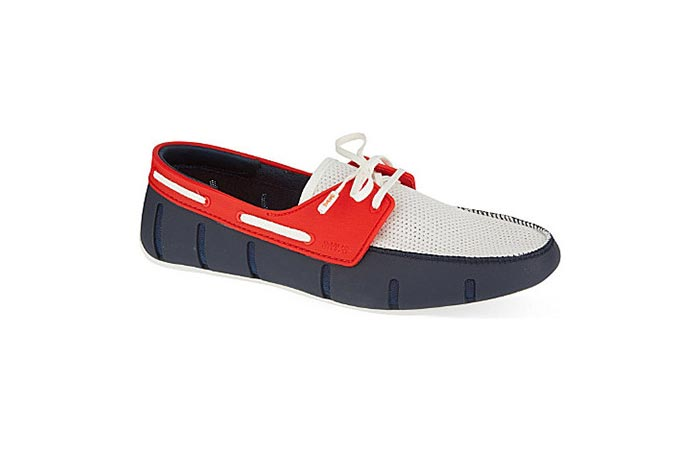 Red and Navy SWIMS Sports Loafer