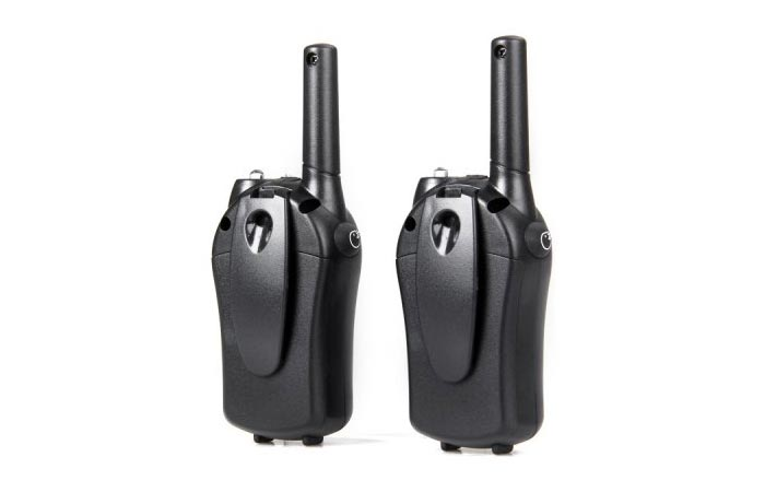 T-668 Walkie Talkie set back view