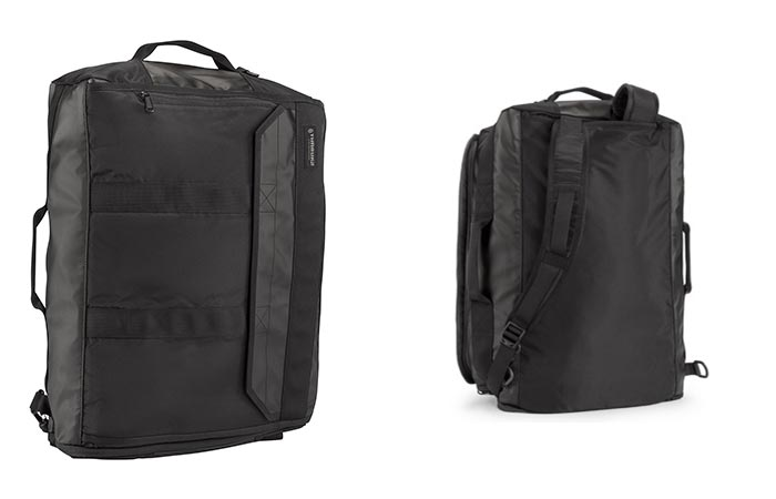 Front and Back view of the Timbuk2 Wingman Travel Backpack