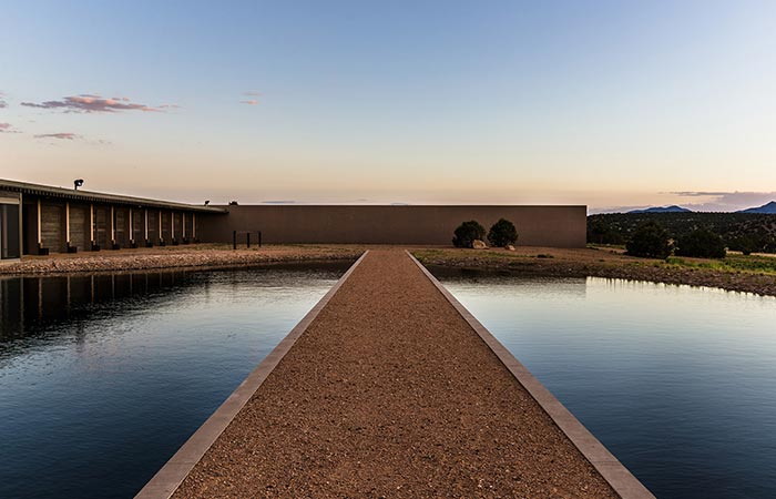 The Road Through The Pool In Tom Ford's Santa Fe Ranch