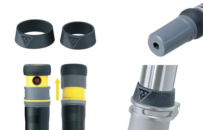 Topeak Ninja P Mini-pump Features