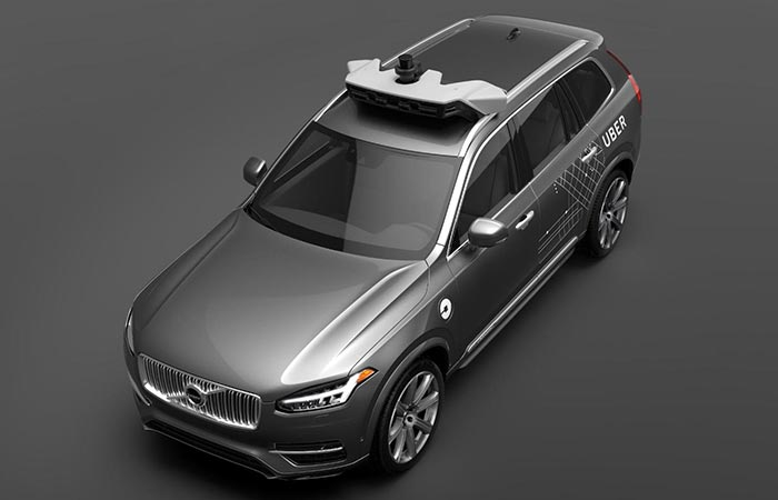 Uber's Volvo XC90 SUV Driverless Car From The Front