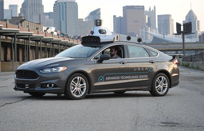 Uber's Volvo XC90 SUV Driverless Car On The Street