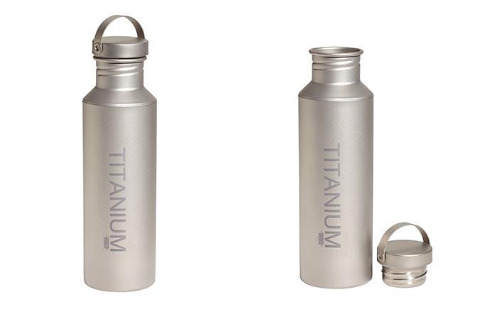 Vargo Titanium Water Bottle With Titanium Lid