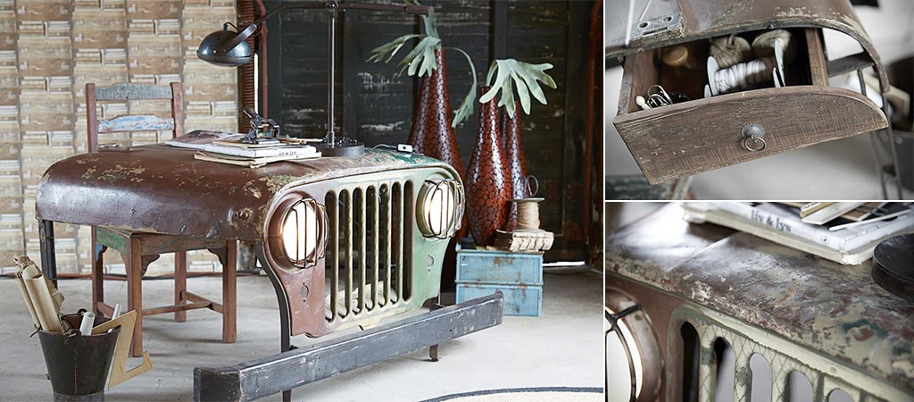 Vintage Jeep Desk From Canett Furniture