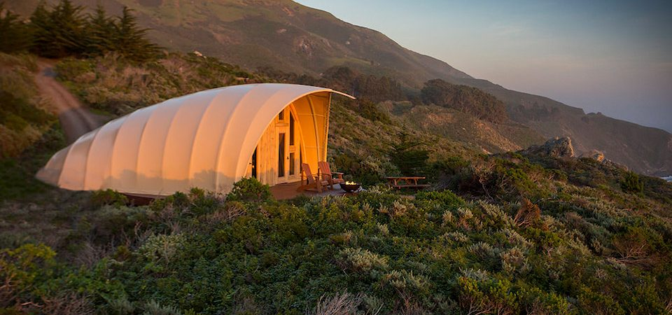 Autonomous Tent on a Hillside