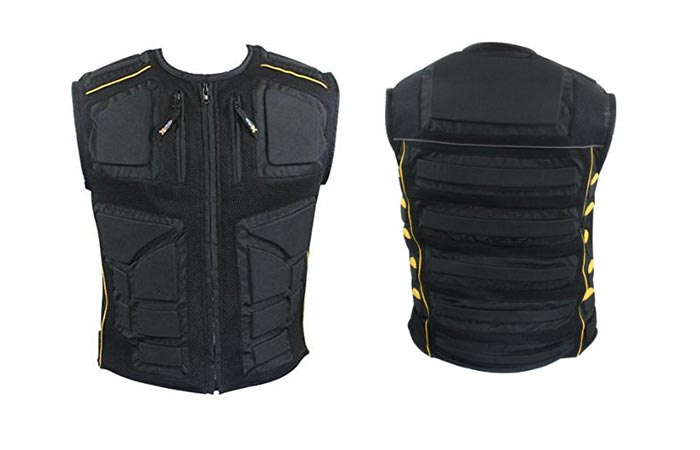 Front and back view of the Xelement vest