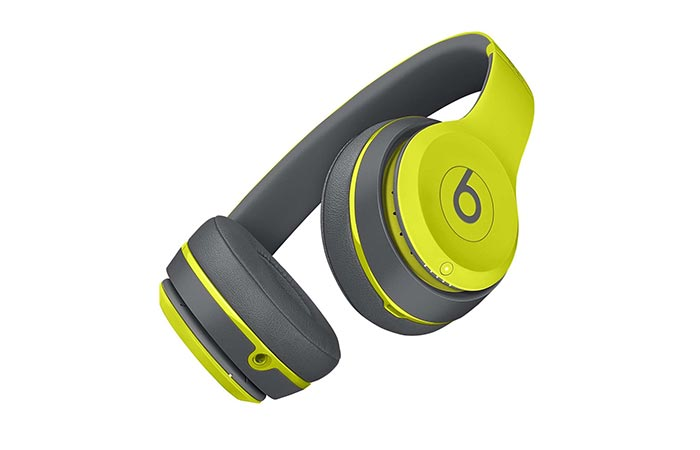 Beats Solo2 Wireless bottom view in yellow