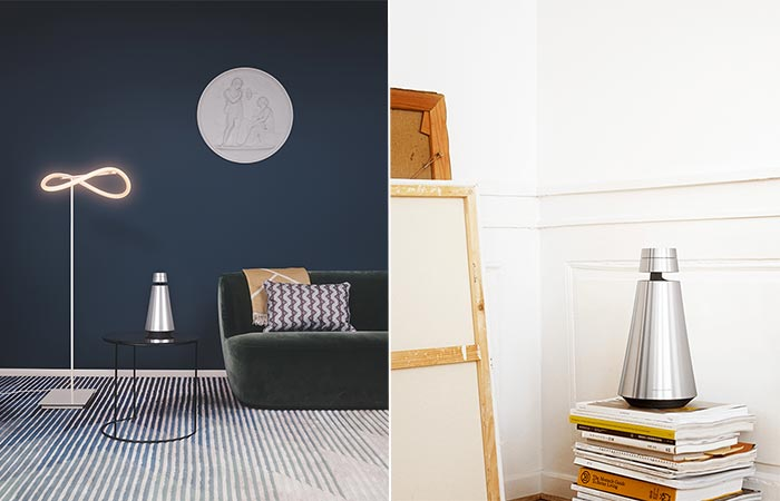 Two Images Of Bang & Olufsen BeoSound Speakers