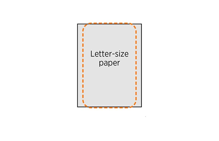 ChargePoint sized compared to a letter-size paper