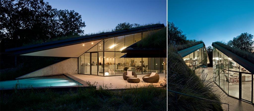 Edgeland House | Modern Re‐interpretation Of The Native American Pit House