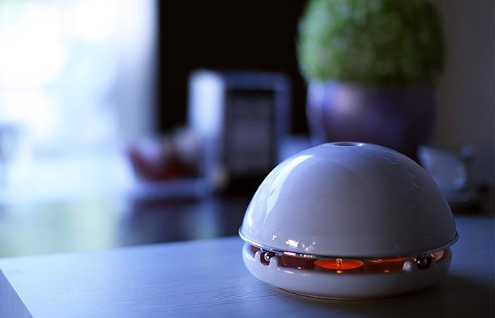 White Glazed Egloo on a table