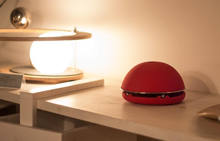Egloo red on a table