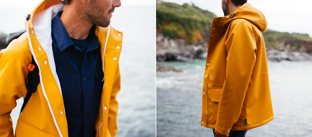 Finisterre Nor'easter Mac | Yellow Fisherman Jacket
