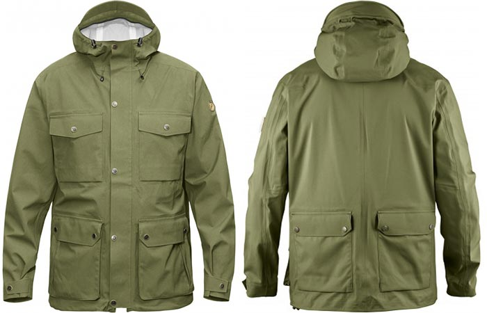 Green Fjallraven Ovik Eco Shell Jacket