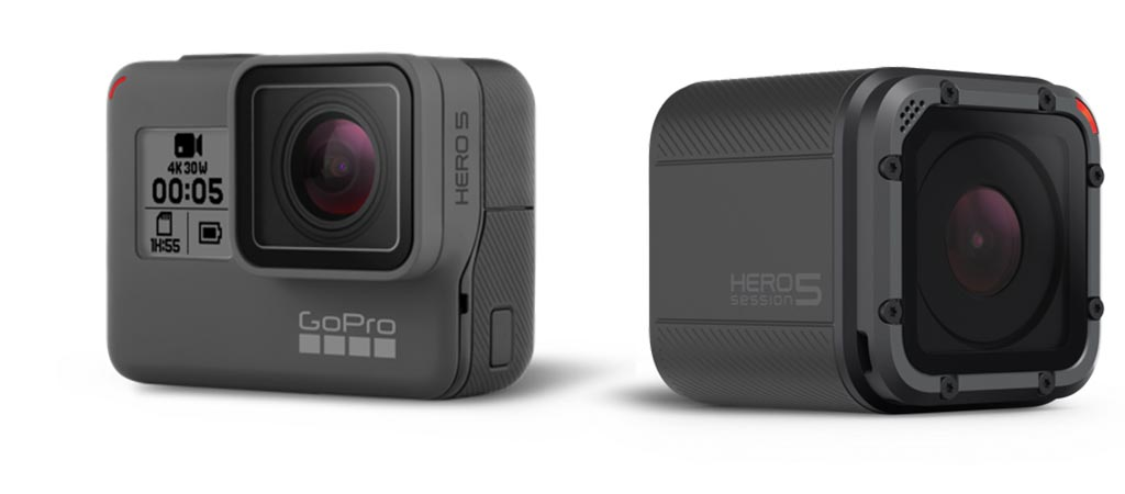 GoPro Hero5 Black and Hero5 Session