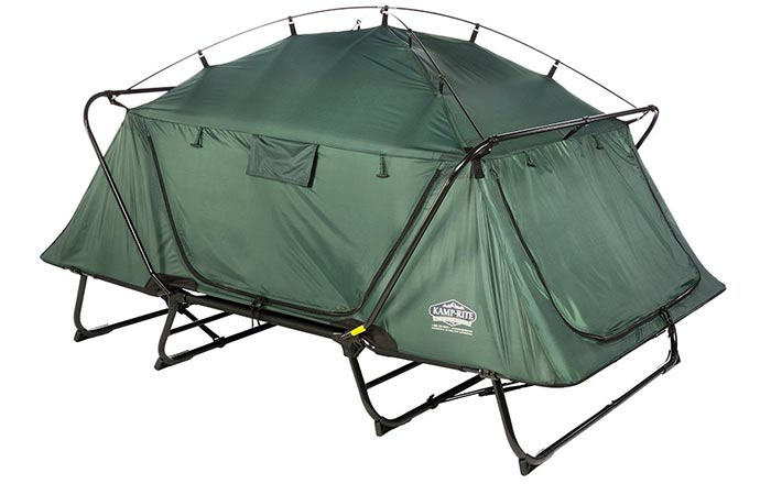 KampRite Double TentCot with doors and windows closed