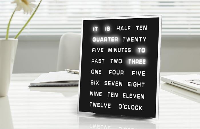 LED World Clock on a desk