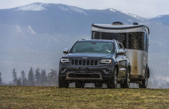 Jeep Towing Airstream Basecamp