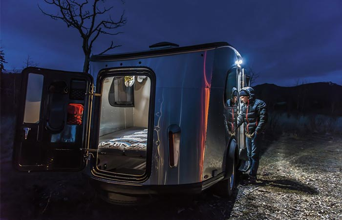 Airstream Basecamp By Night