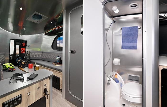 Interior And Toilet In Airstream Basecamp