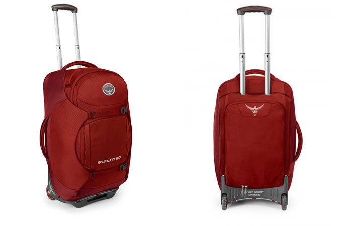 Red Osprey Sojourn Wheeled Luggage