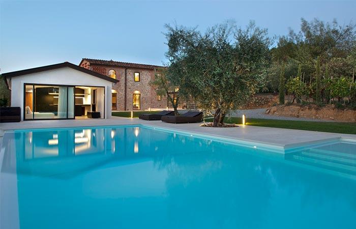 Swimming Pool In Tuscan Farmhouse