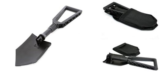 Smittybilt Foldable Shovel | Recovery Utility Tool For Cutting And Digging
