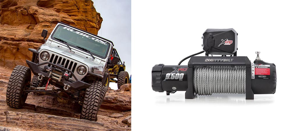 Smittybilt XRC mounted on a Jeep and a shot of it by itself