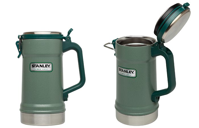 Stanley Vacuum Insulated Stein With Closed And Opened Lid