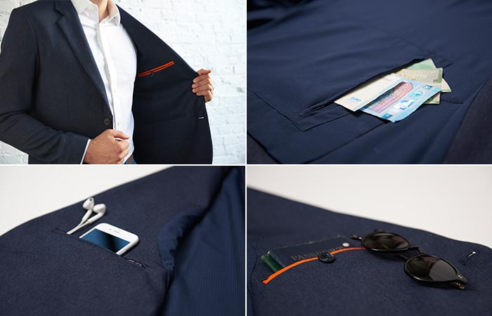 Different pockets of The Blazer by Bluffworks