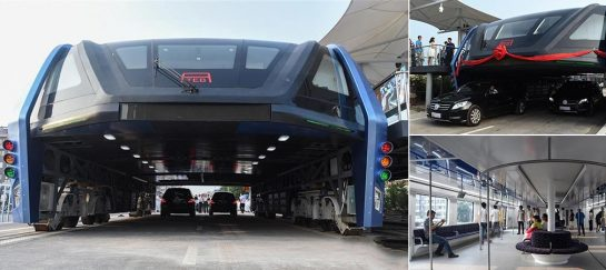 World's First Transit Elevated Bus | The TEB-1 by TEB Technology