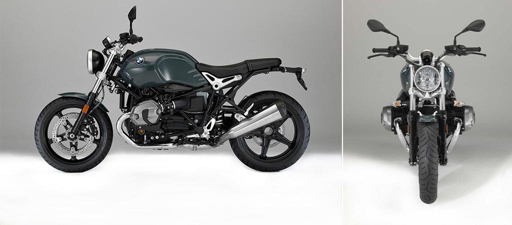 BMW R nineT Pure side and front view