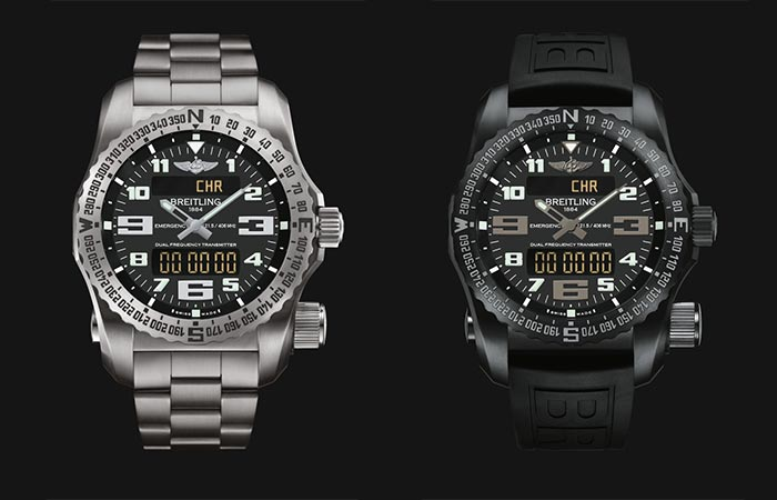 Two different versions in the Breitling Emergency Watch Collection