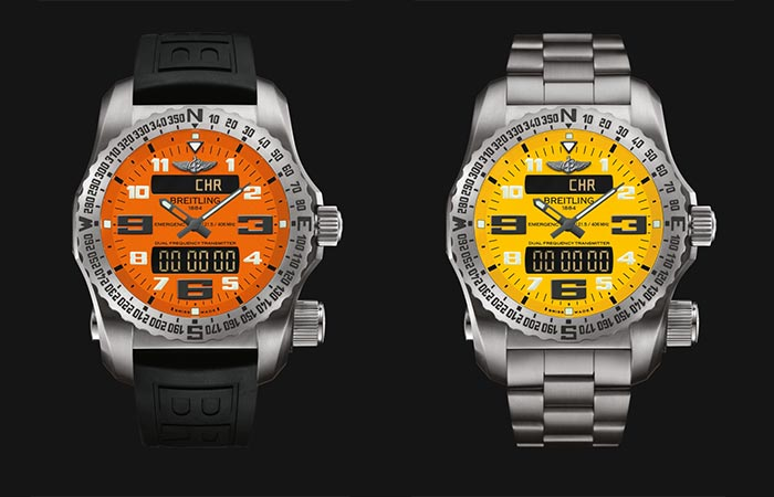 Two different versions of the Breitling Emergency Watch Collection
