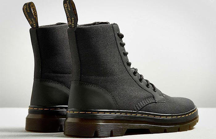Dr. Martens Combs Nylon Boots From The Back