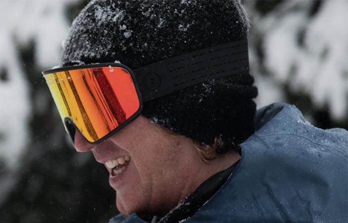 Man wearing Electrolite Snow Goggles