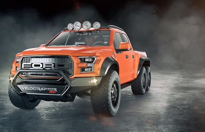 Hennessey Velociraptor Orange front view