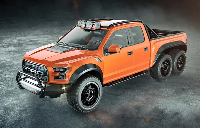 Hennessey Velociraptor Orange side view