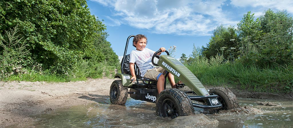 Kid riding on the Jeep Revolution BFR-3